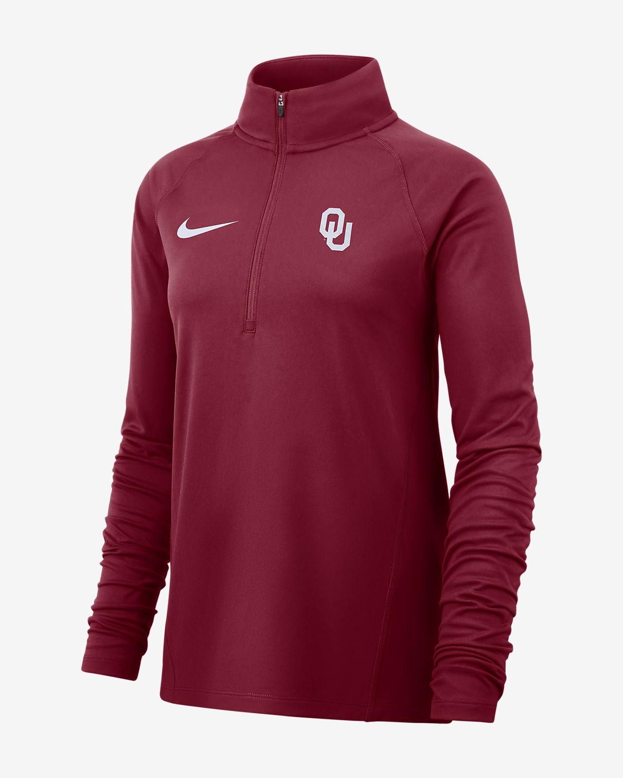 Nike College Therma (Oklahoma) Women's Long-Sleeve 1/2-Zip Top