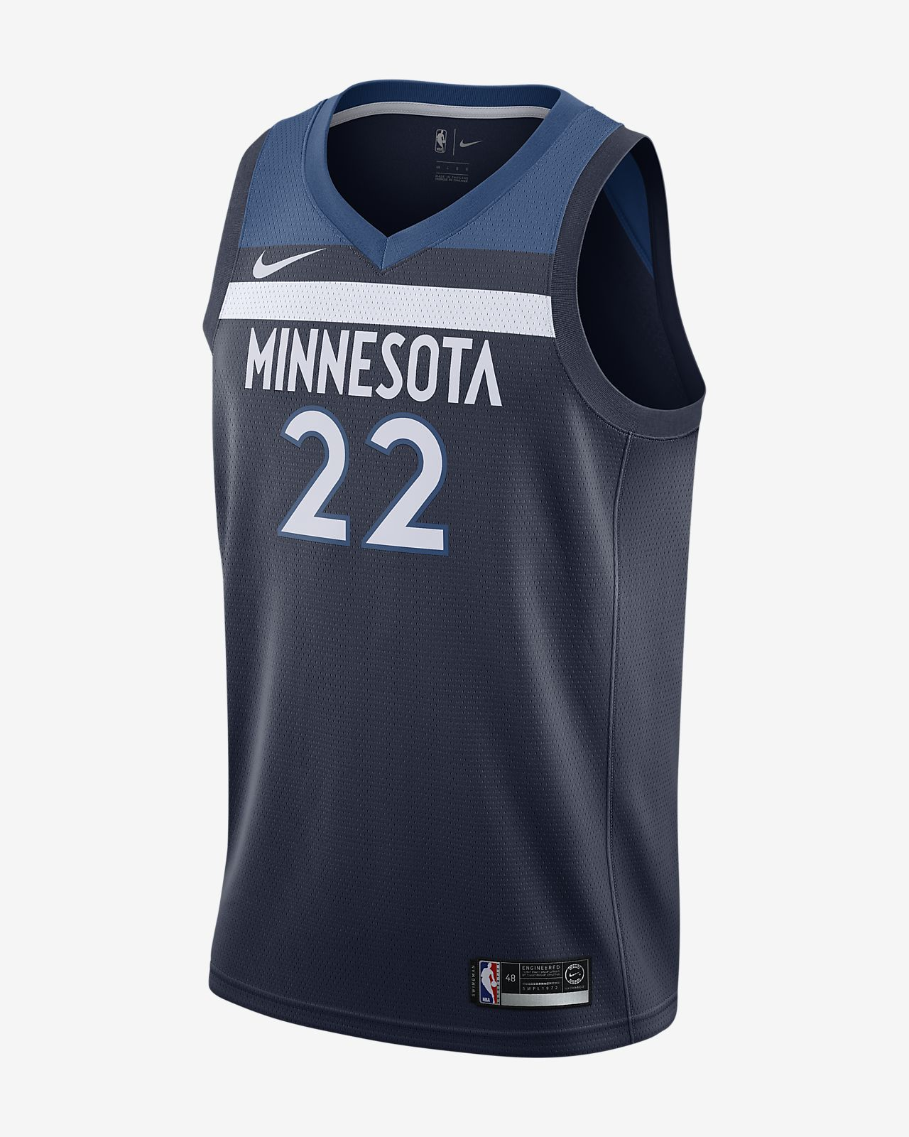 Andrew Wiggins Icon Edition Swingman (Minnesota Timberwolves) Nike NBA Connected Jersey för män