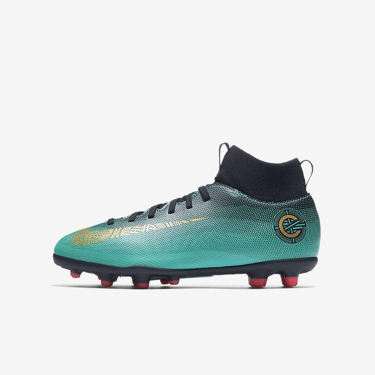 รองเท้าสตั๊ดฟุตบอลเด็กเล็ก/โตสำหรับพื้นหลายประเภท Nike Jr. Mercurial Superfly VI Club CR7