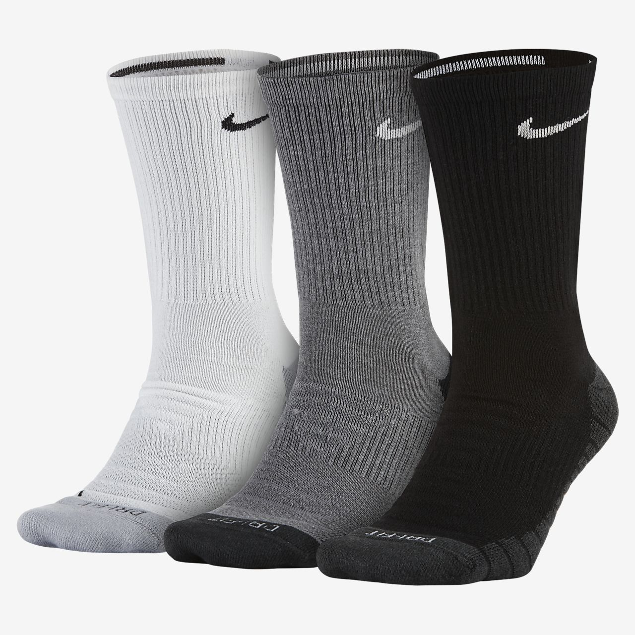 3 Pair Nike Unisex Dry Cushion Crew Training Socks