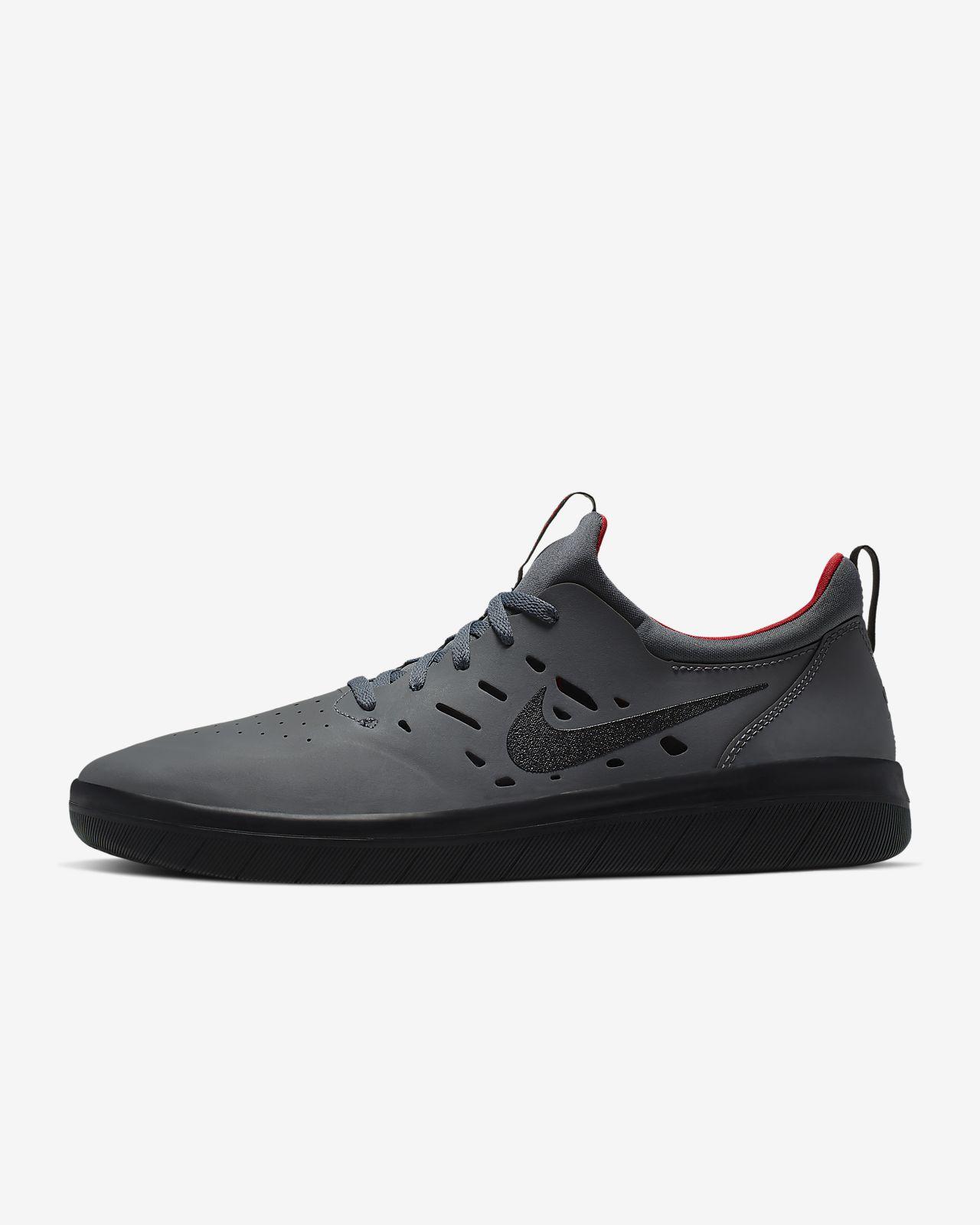 Nike SB Nyjah Free Black & White Skate Shoes