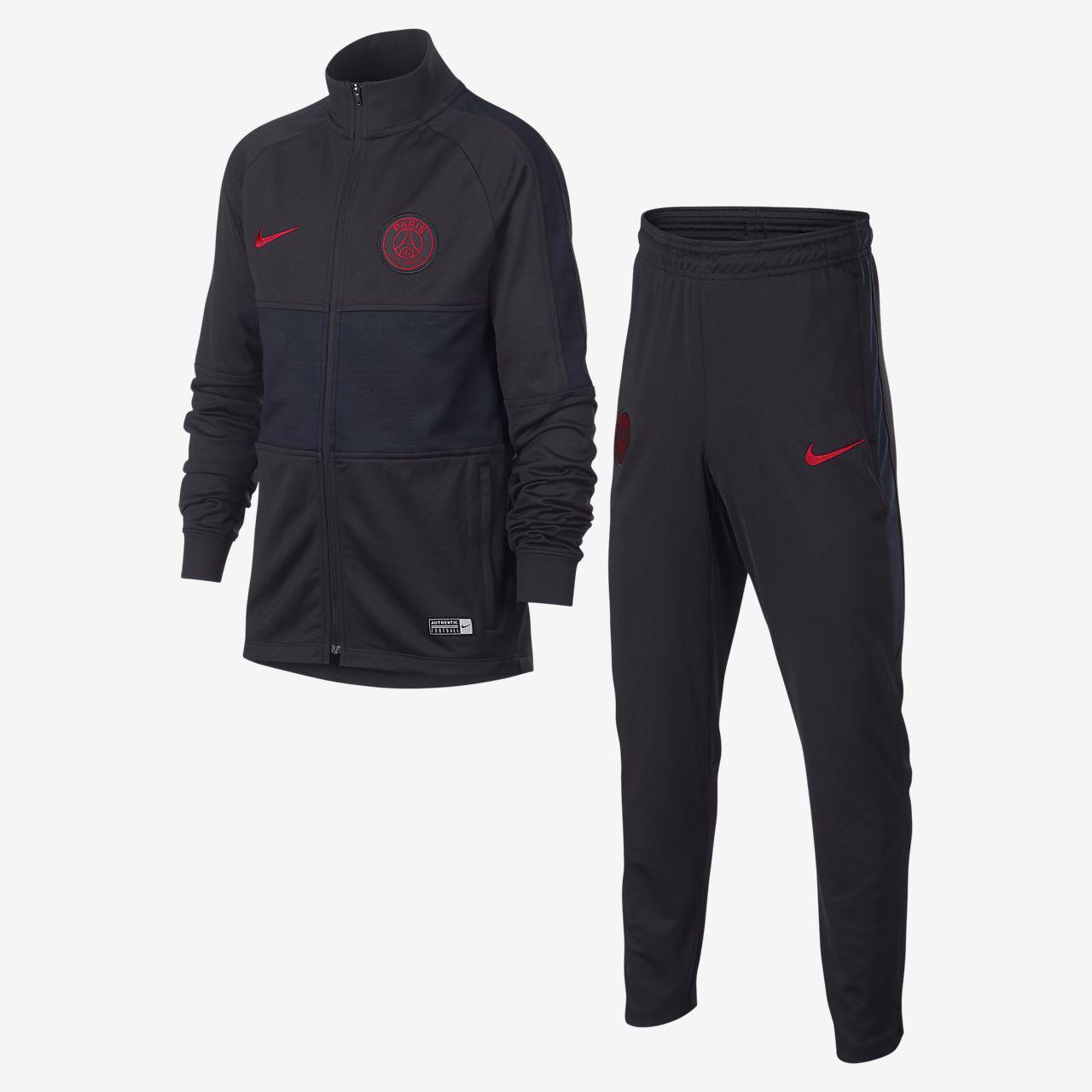 Nike Dri-FIT Paris Saint-Germain Strike-fodboldtracksuit til store børn