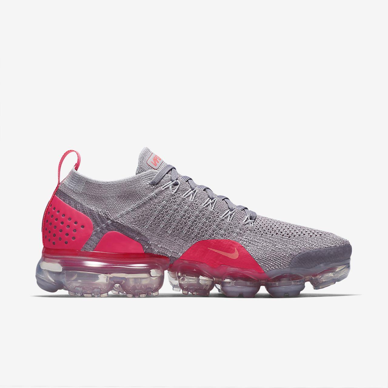 0d70902fb10ab Nike Air VaporMax Flyknit TPU Grey Orange Men s Running Shoes