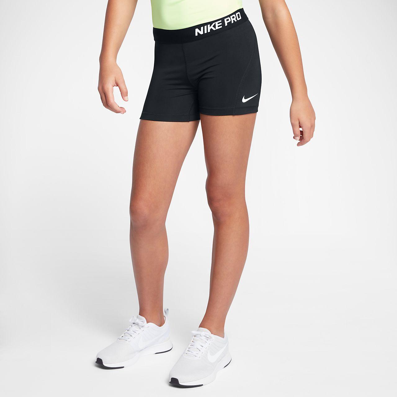 Nike Pro Trainingsshorts (ca. 10 cm) für ältere Kinder (Mädchen)