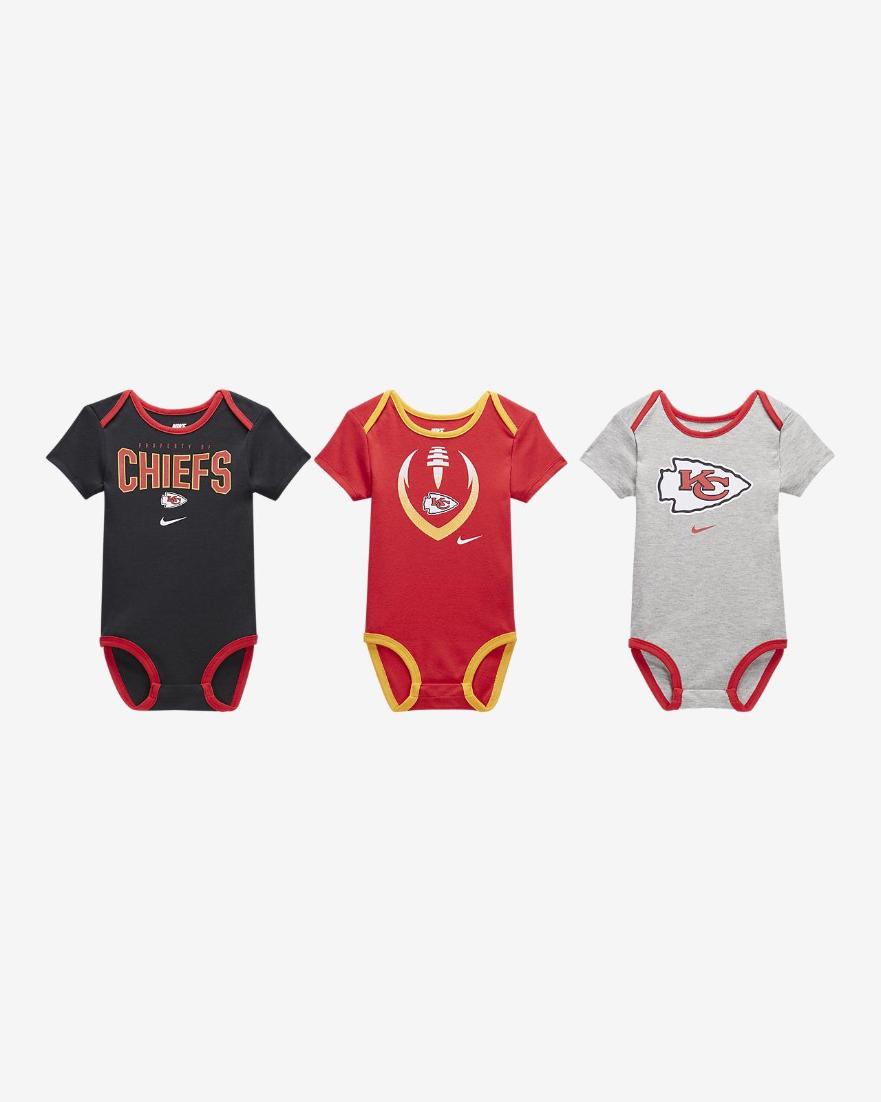 Nike (NFL Chiefs) Baby Bodysuit (3-Pack)
