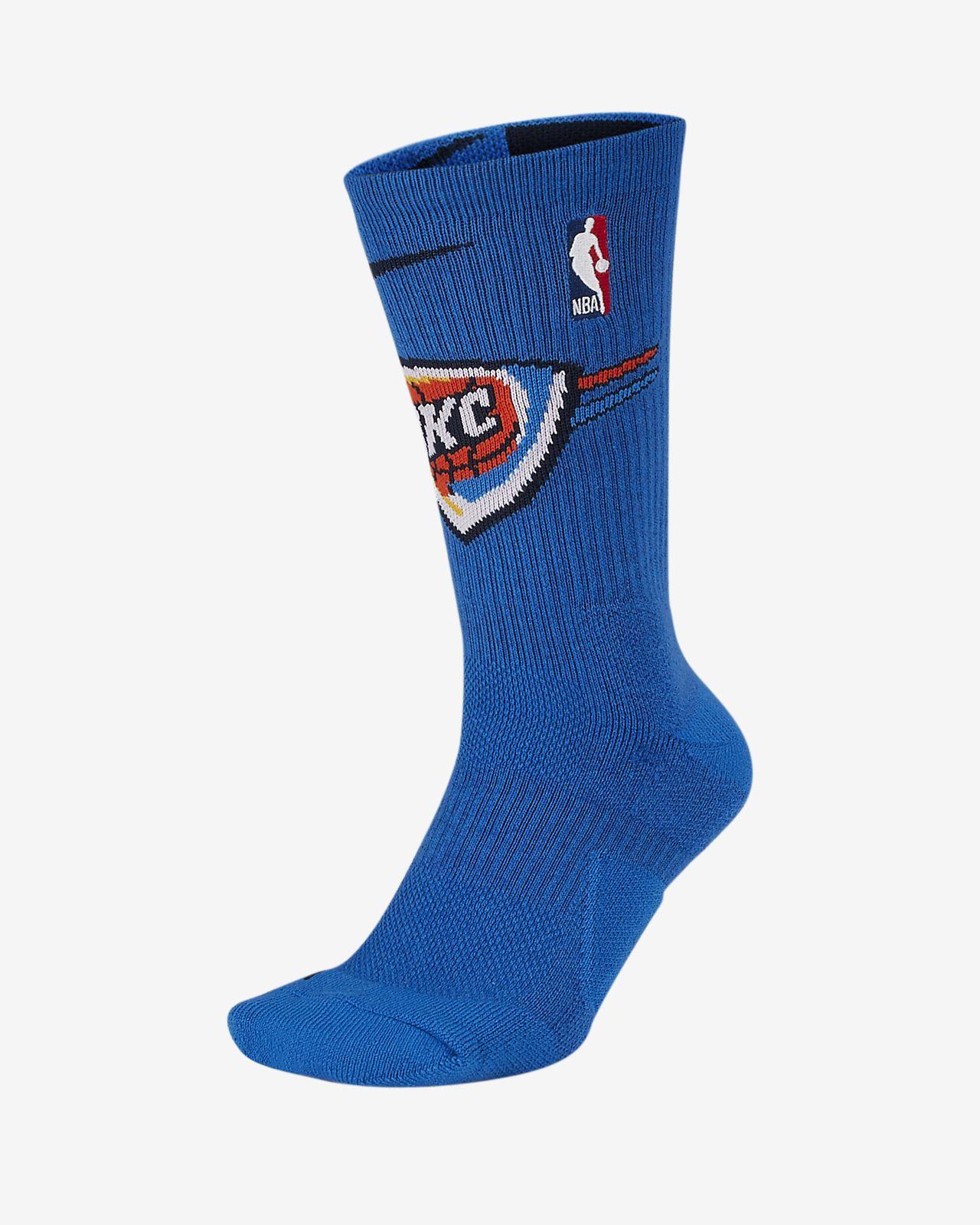 Oklahoma City Thunder Nike Elite NBA Crew Socks