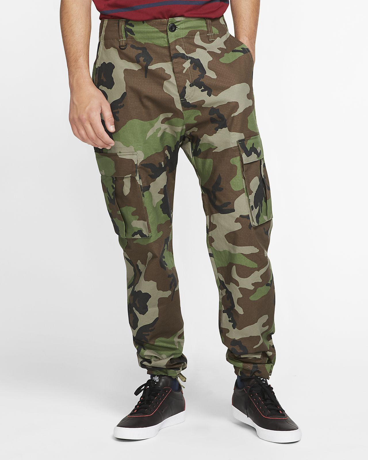 Pantaloni cargo da skateboard camo Nike SB Flex FTM Uomo