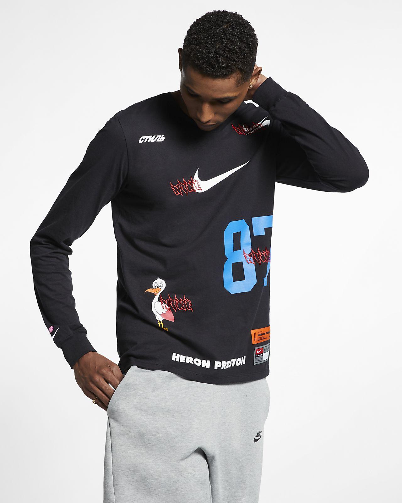 22df4ad3 Nike x Heron Preston Men's Long-Sleeve T-Shirt