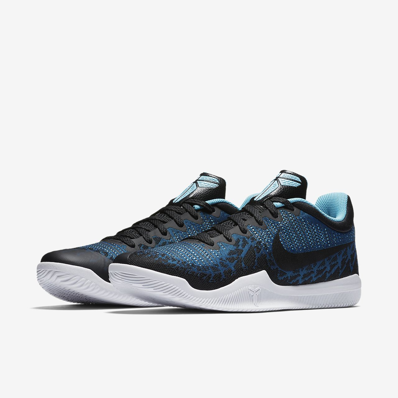Nike Performance MAMBA RAGE - Basketball shoes - blue/black/blue gale 5mCdfUtuq