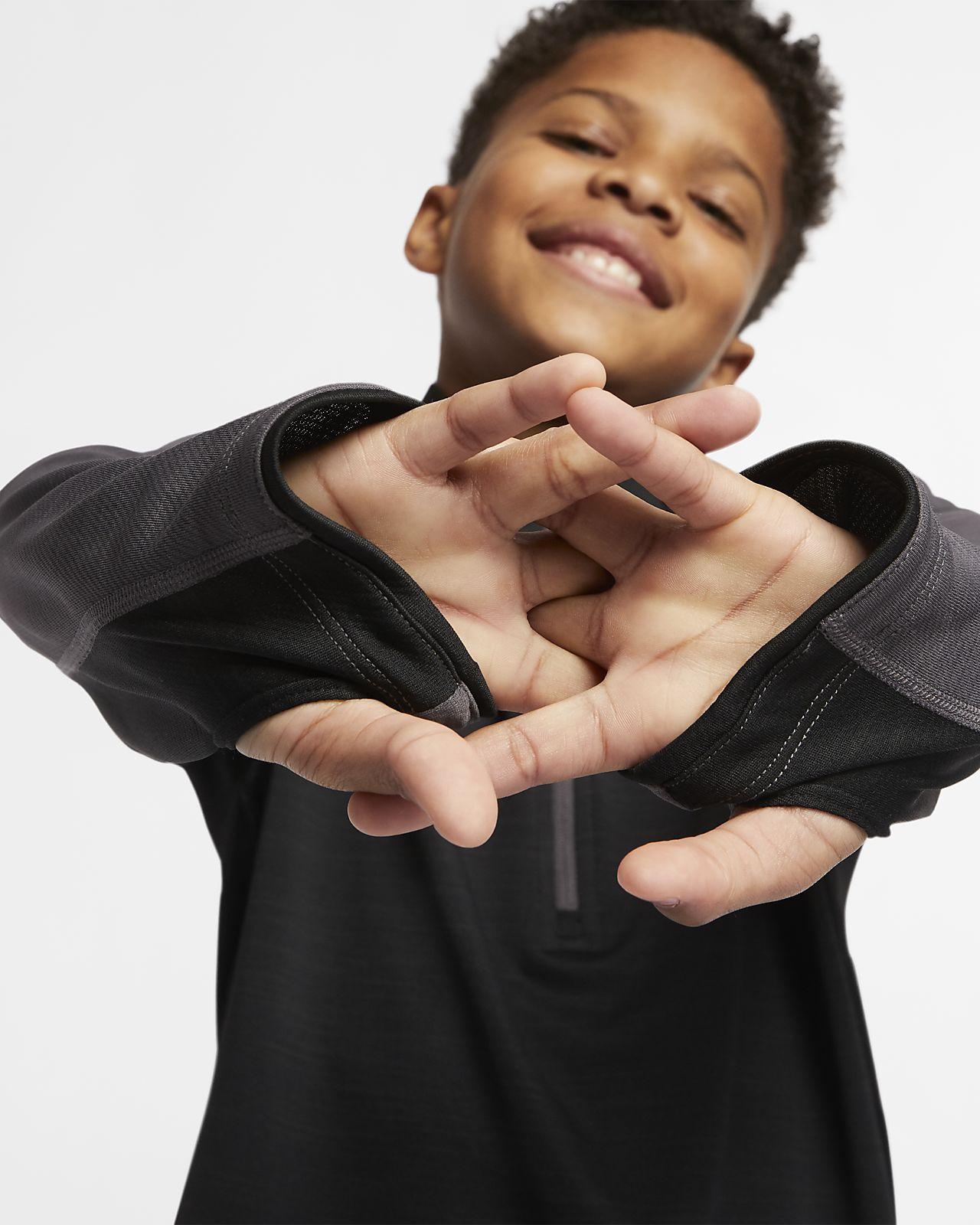 b8343475 Nike Dri-FIT Older Kids' (Boys') Long-Sleeve 1/2-Zip Running Top ...