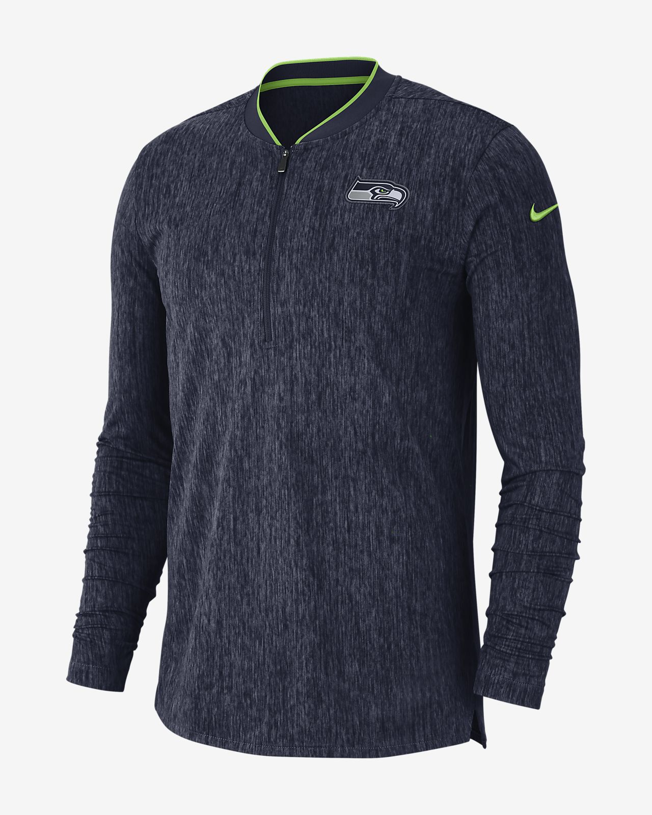 Nike Coach (NFL Seahawks) Men's Half-Zip Long Sleeve Top