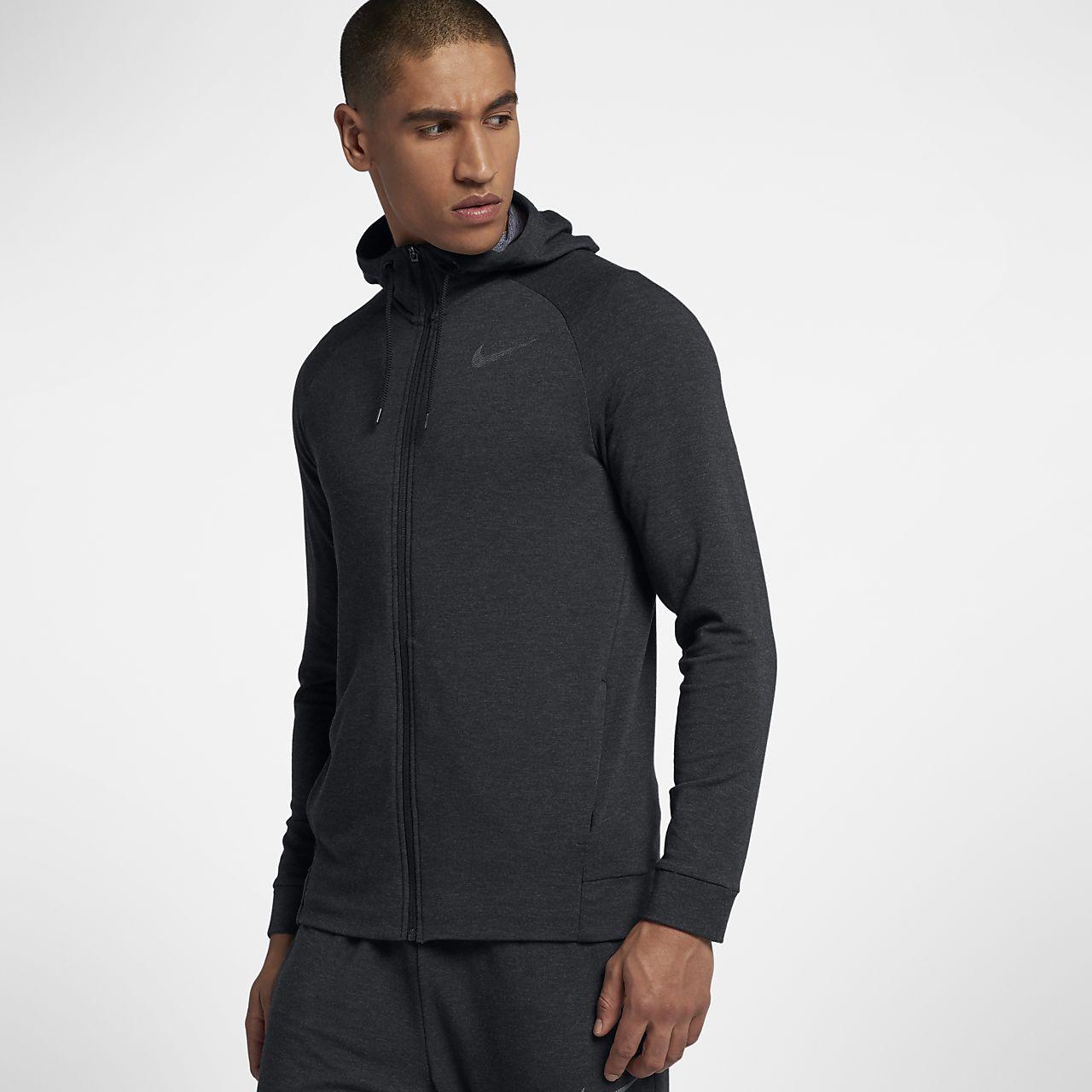 Pánská tréninková mikina Nike Dri-FIT s kapucí a zipem po celé délce ... a95f6d7b805