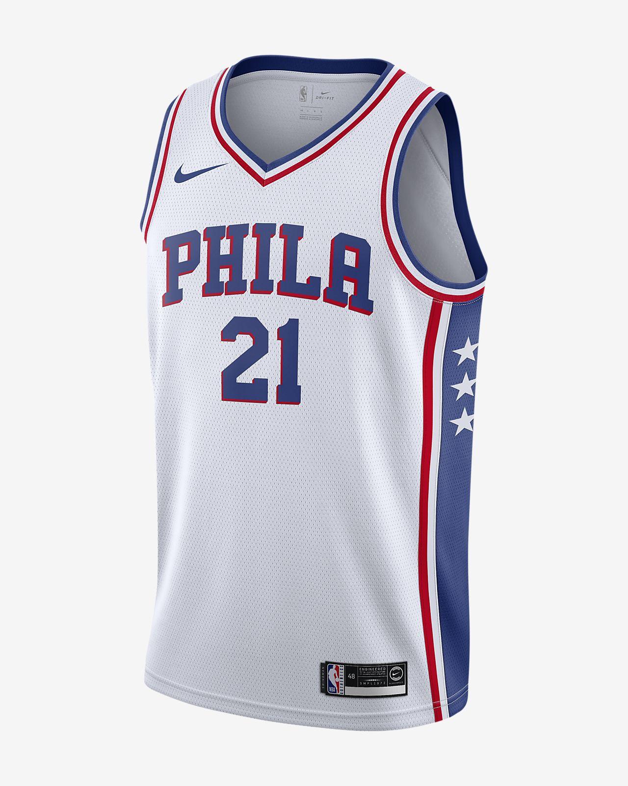 Joel Embiid Association Edition Swingman (Philadelphia 76ers) Nike NBA Connected férfimez