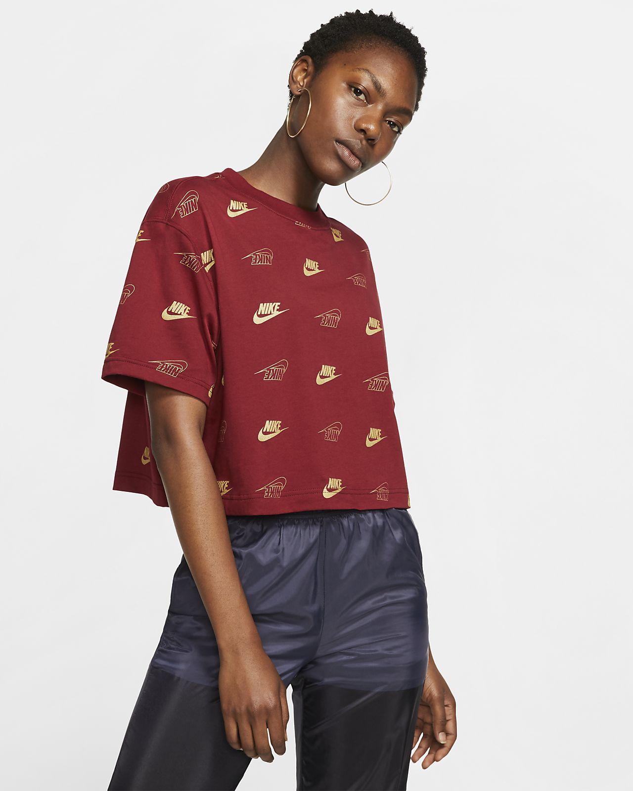 Dámské zkrácené tričko Nike Sportswear s krátkým rukávem