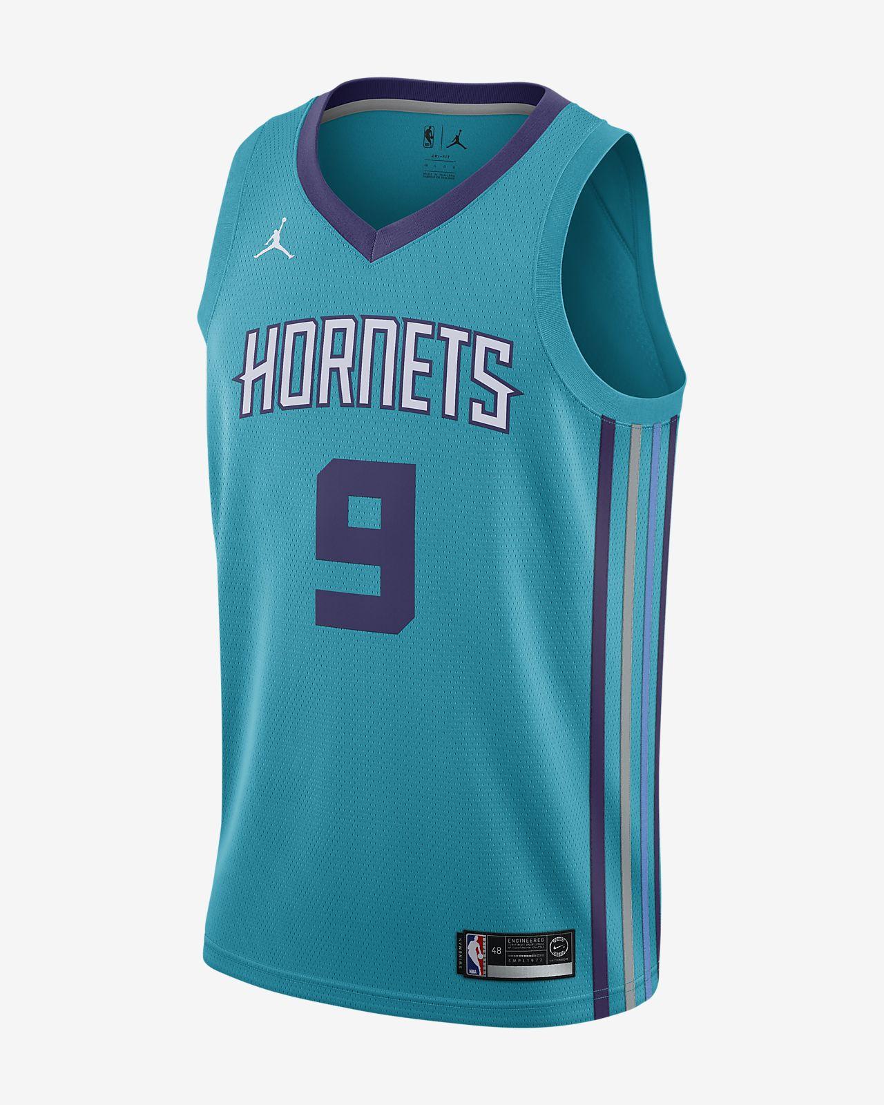 Camiseta conectada Jordan NBA para hombre Icon Edition Swingman (Charlotte Hornets)