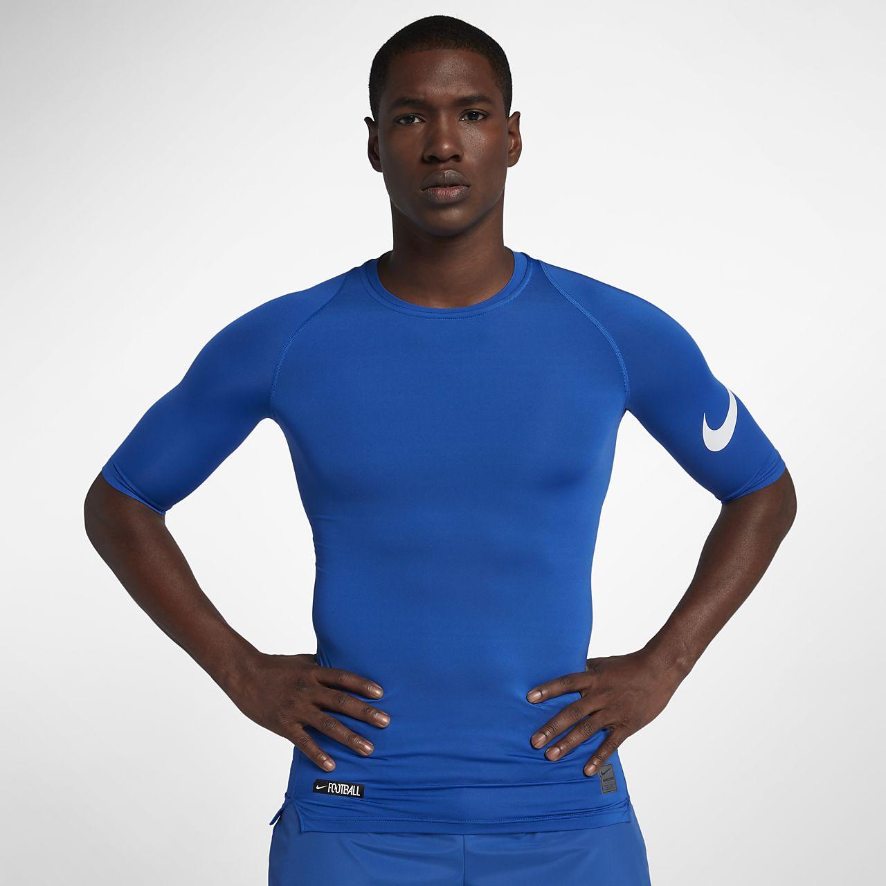 Nike Pro Men's 1/2 Sleeve Football Top