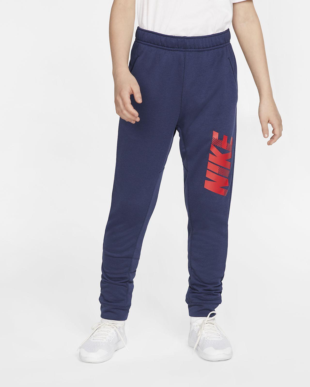 Nike Dri-FIT Trainingsbroek met toelopend design en graphic voor jongens