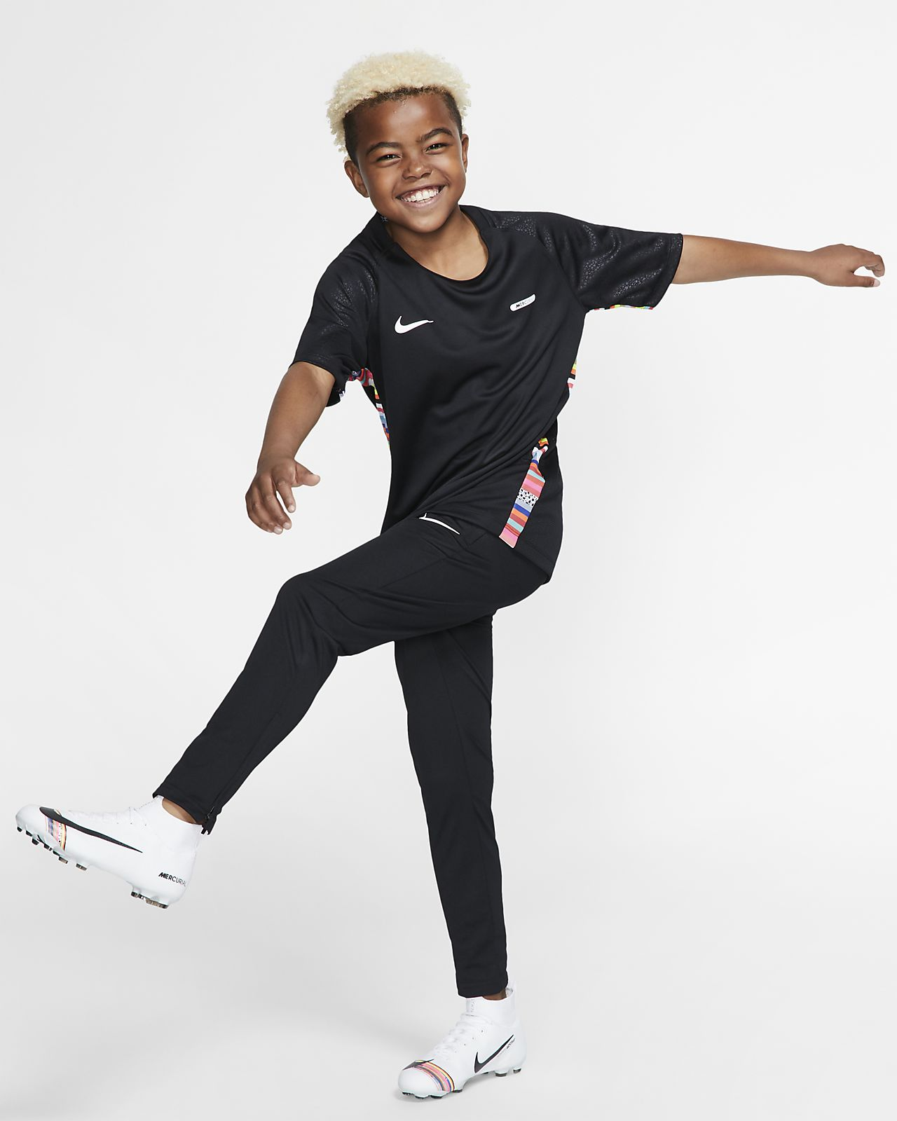 1704df6cb2 Nike Dri-FIT Mercurial Older Kids' Short-Sleeve Football Top. Nike ...