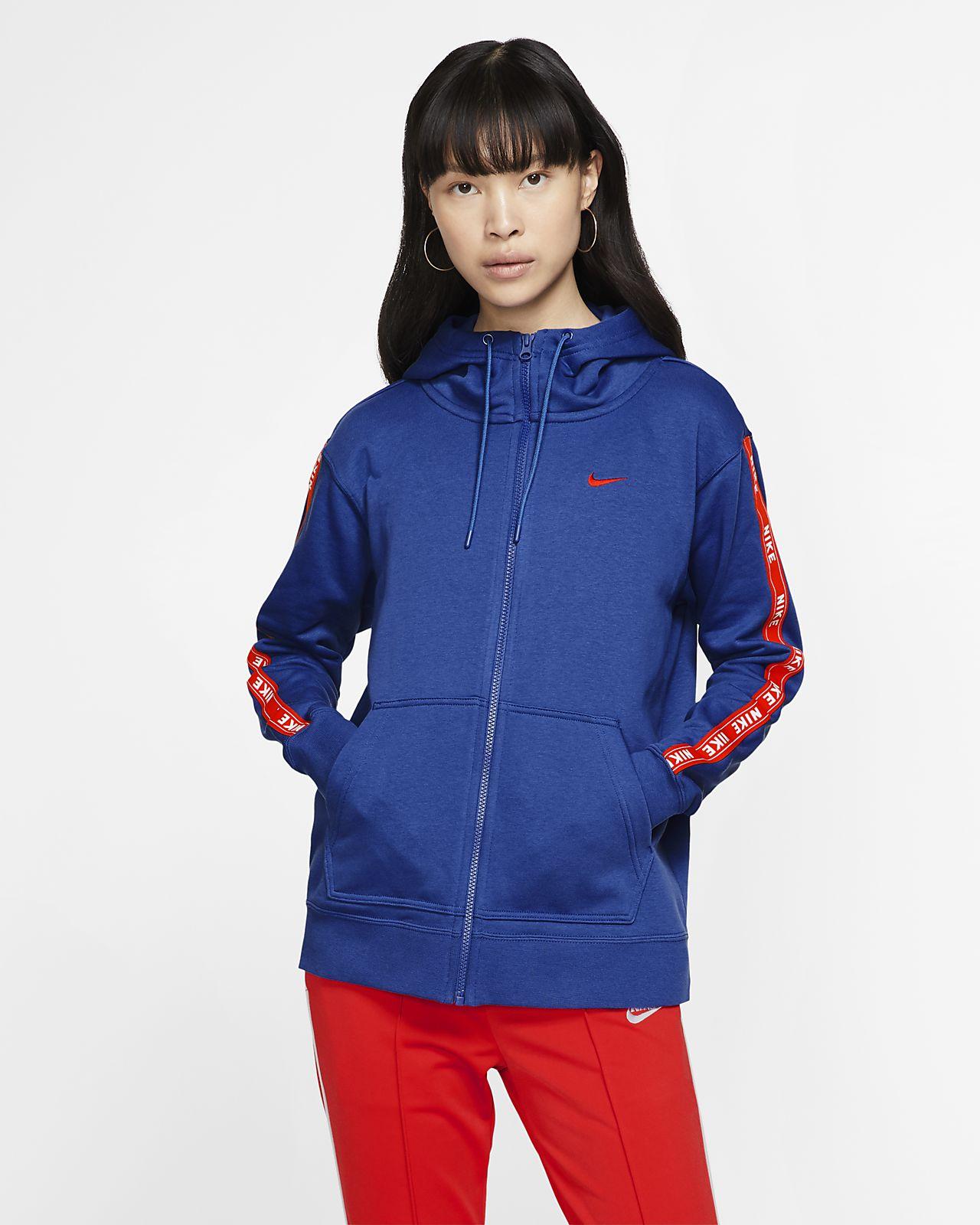 Huvtröja med logga och hel dragkedja Nike Sportswear för kvinnor
