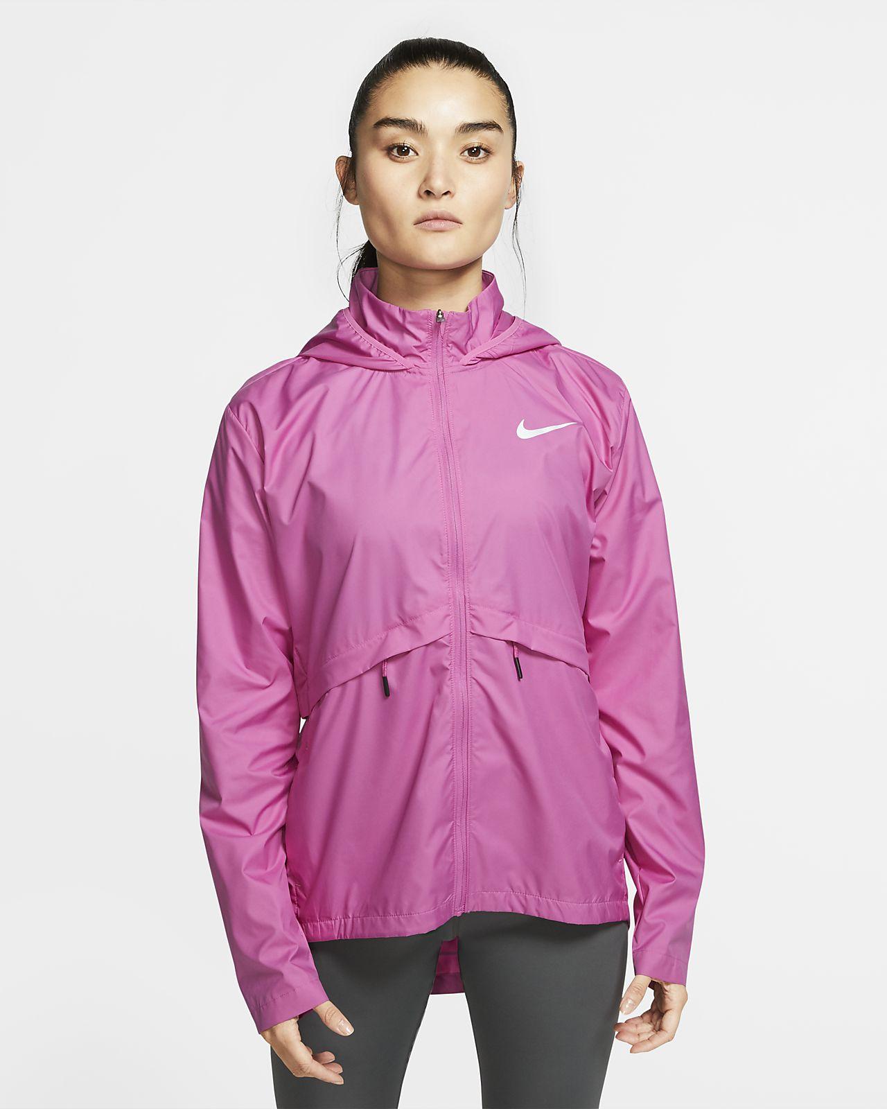 Nike Essential nedpakkbar løpejakke for regn til dame