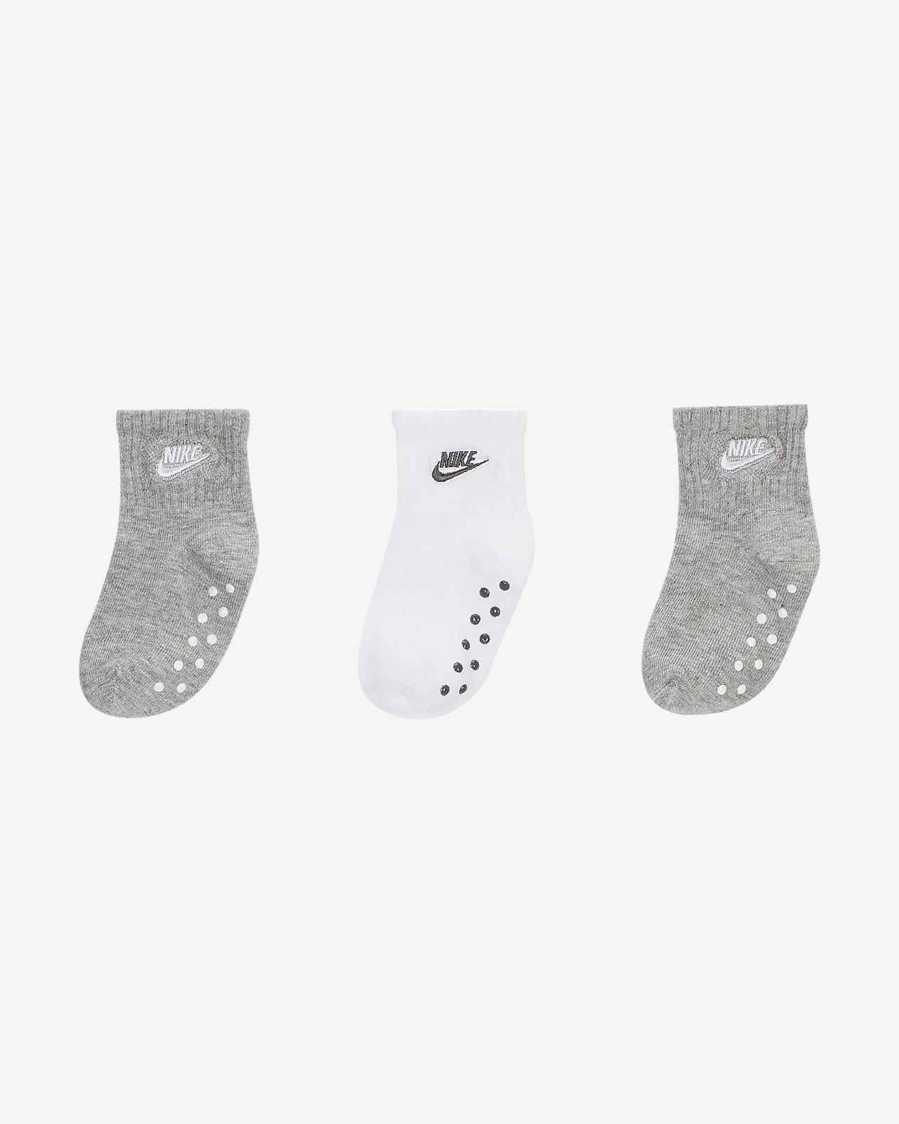 Nike Toddler Gripper Ankle Socks (3-Pack)