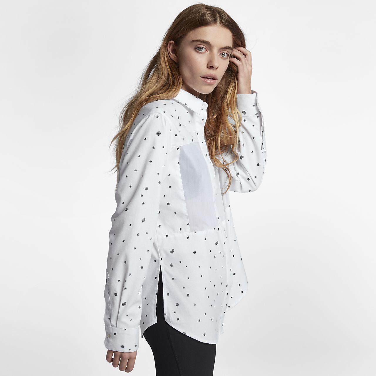 ... Hurley Wilson Mesh Dot Women's Long Sleeve Shirt