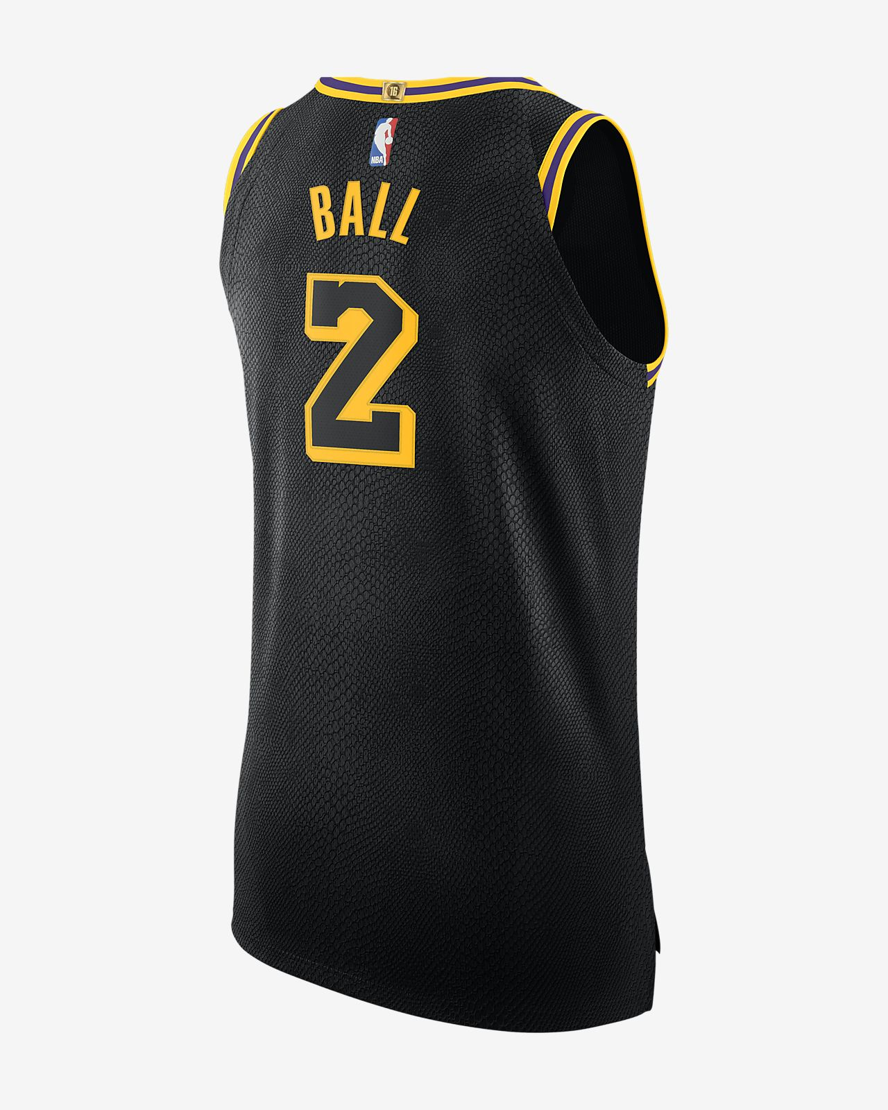 watch b162a 5f304 Lonzo Ball City Edition Authentic Jersey (Los Angeles Lakers) Men's Nike  NBA Connected Jersey