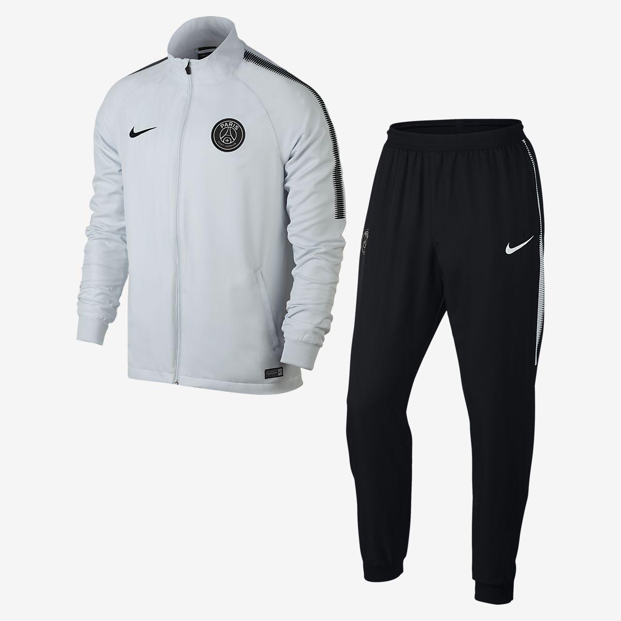 paris saint germain dri fit squad fu ball trainingsanzug. Black Bedroom Furniture Sets. Home Design Ideas