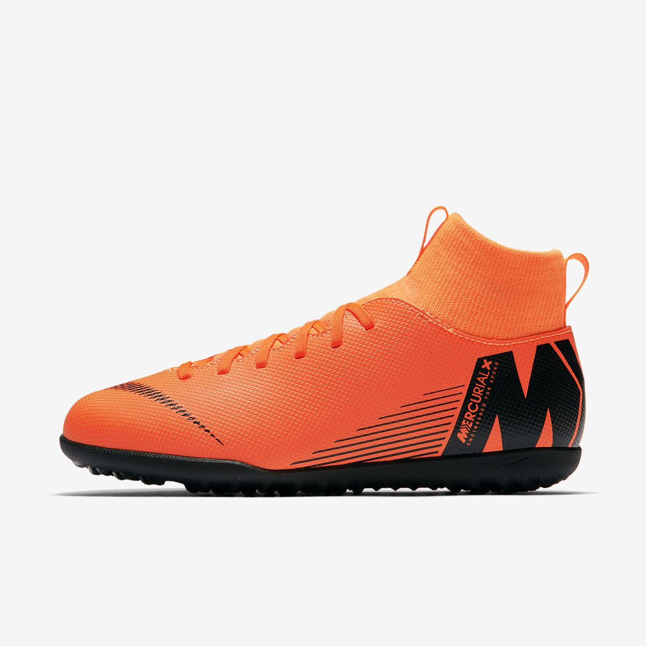 sale retailer 8bad4 2ec76 ... svart orange volt nike jr. mercurialx superfly vi club tf fotballsko  for syntetisk underlag til