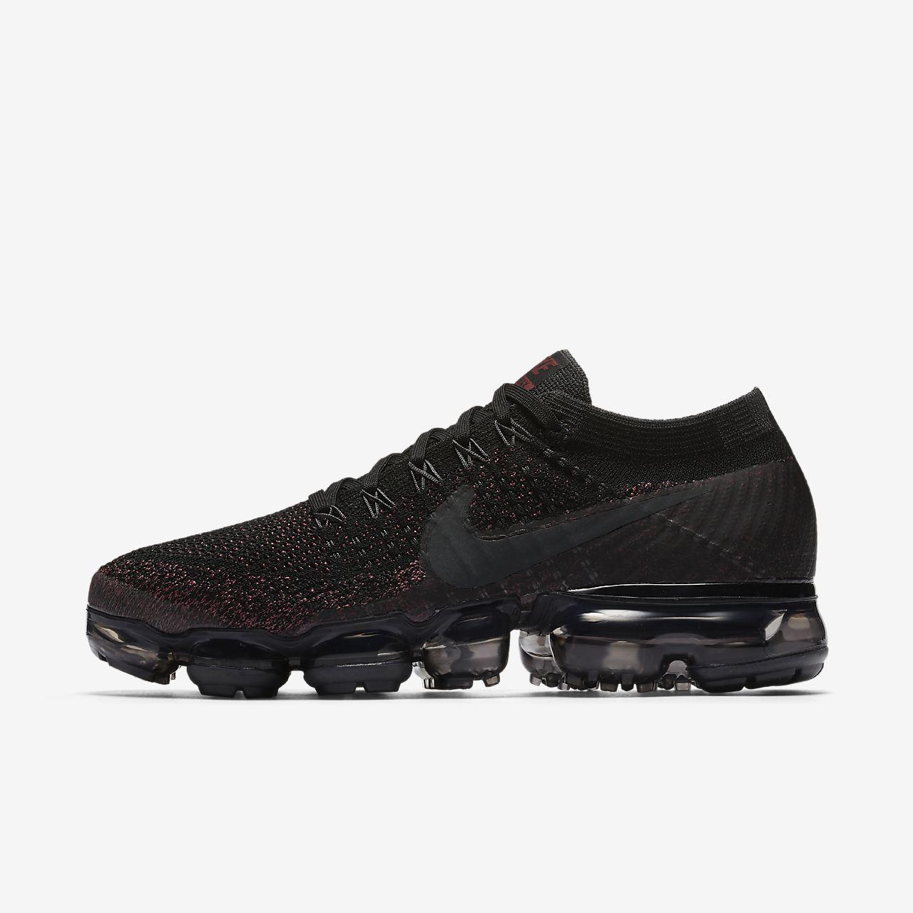 Nike Womens Air Vapormax Flyknit Black Grey White Shoes