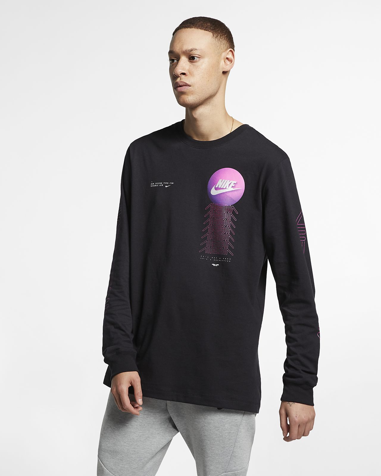 04a7e2db56ab7 Nike Sportswear Men s Long-Sleeve T-Shirt. Nike.com