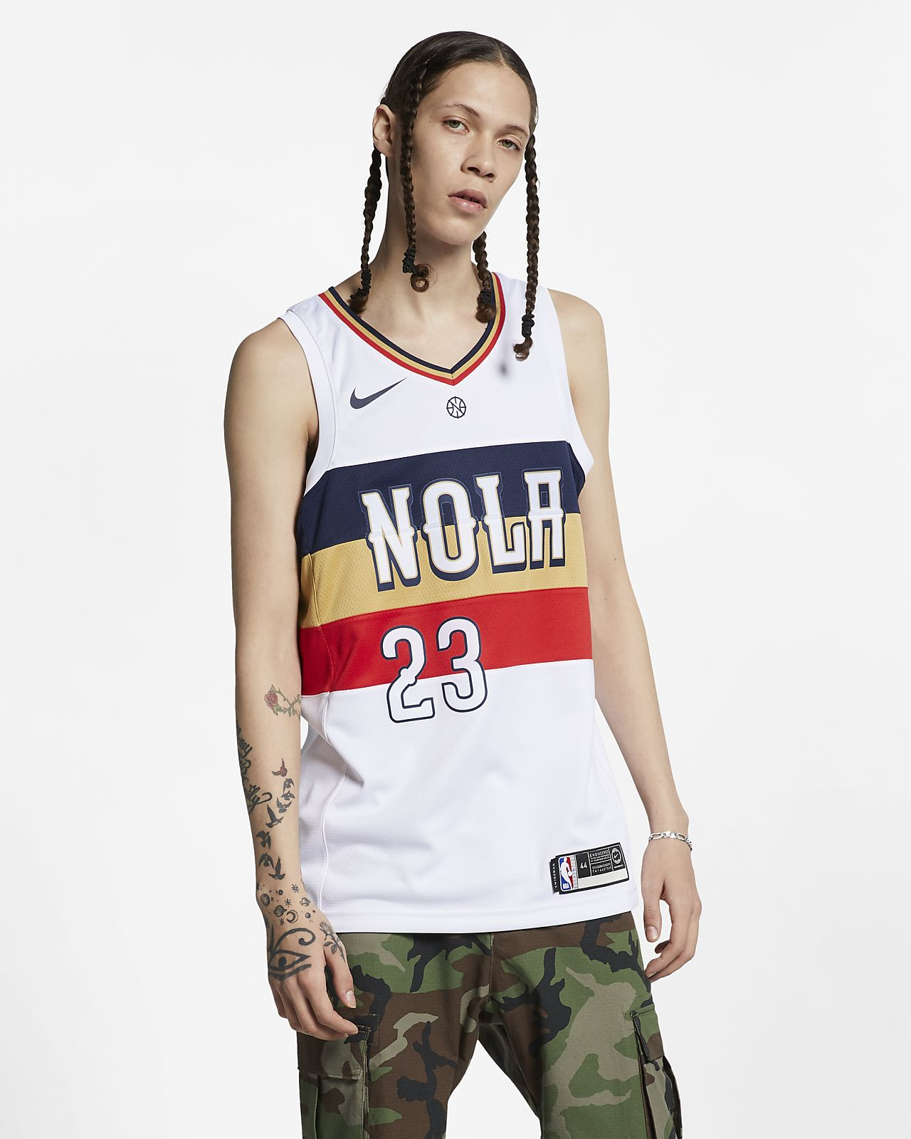 Anthony Davis (nba) Earned City Edition Swingman (New Orleans Pelicans) Nike NBA Connected férfimez