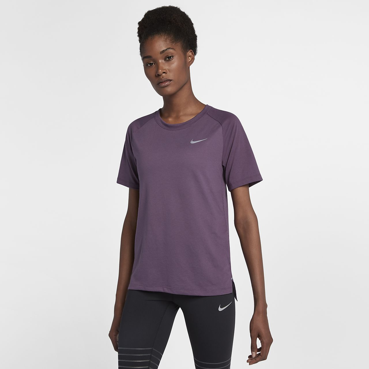 ... Nike Dri-FIT Tailwind Women's Short Sleeve Running Top