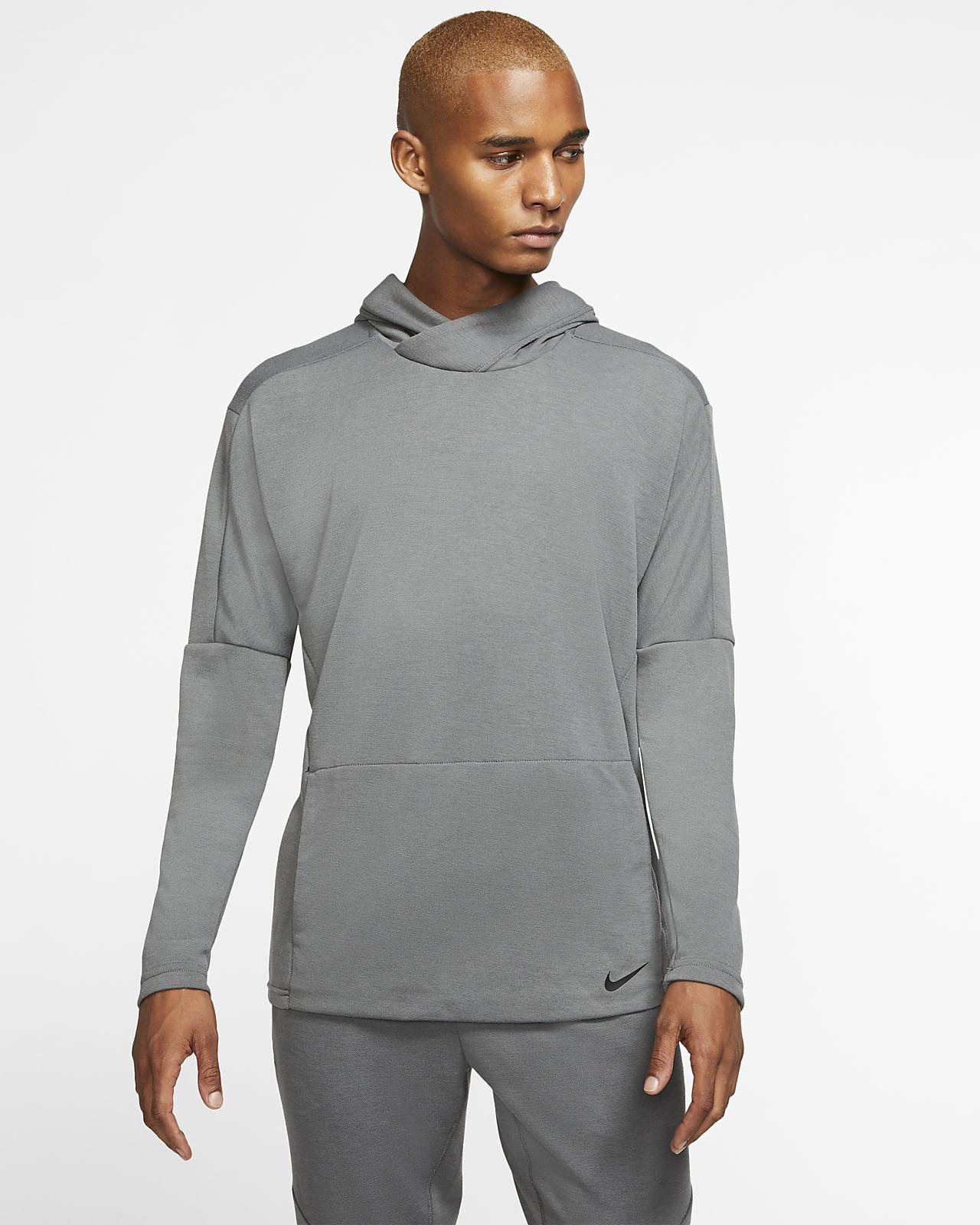 Nike Yoga Dri-FIT kapucnis, belebújós férfipulóver