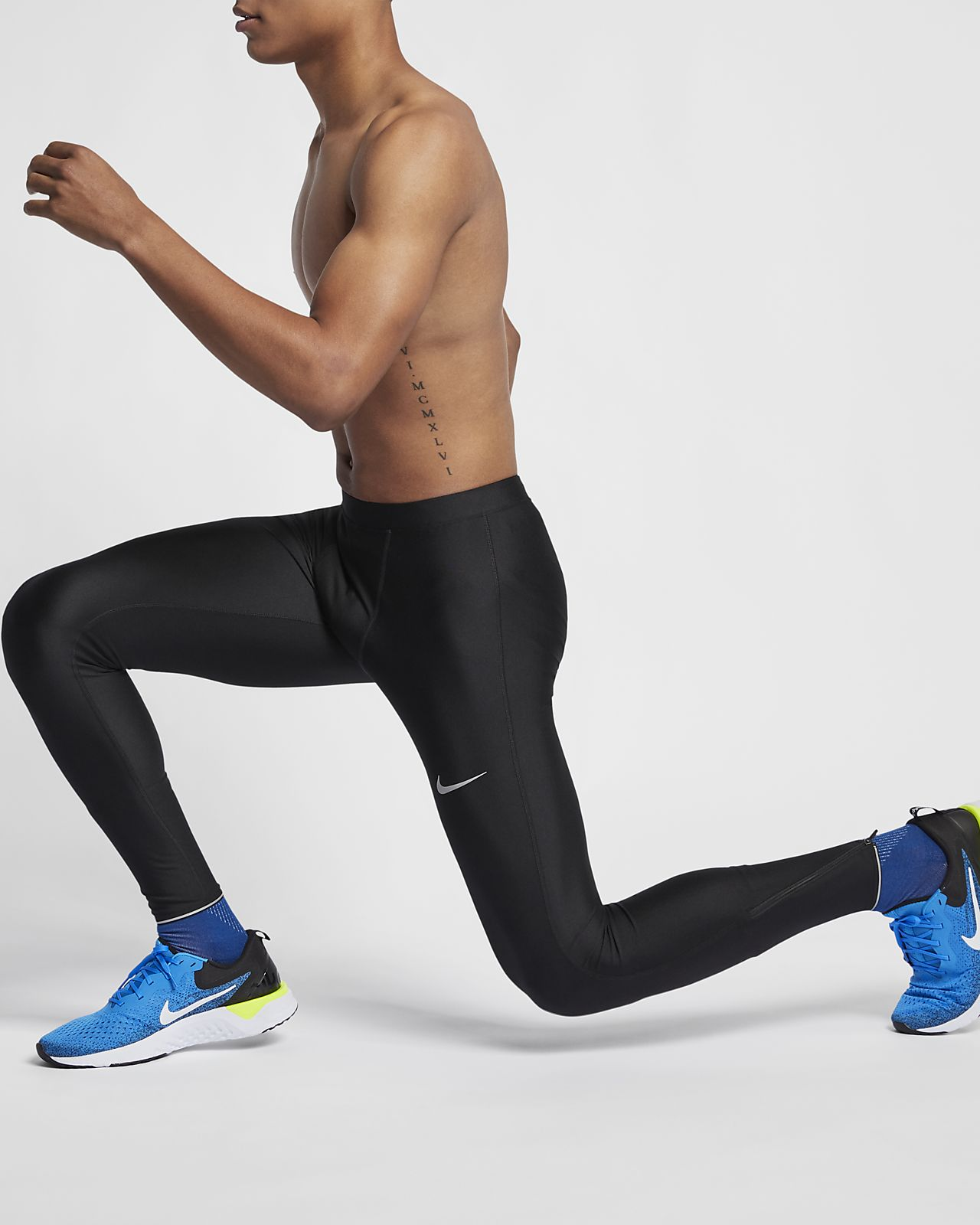 Nike testhezálló férfi futónadrág