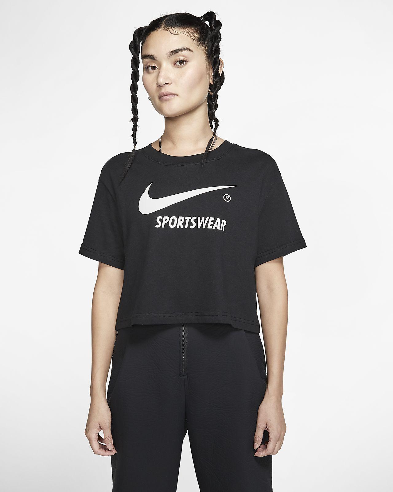 Top corto a manica corta Nike Sportswear Donna