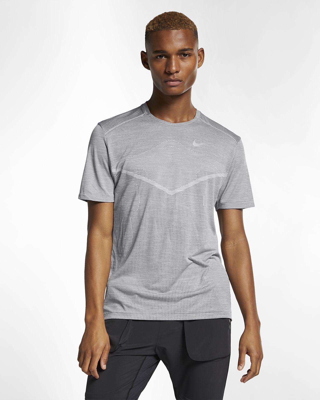 Camisola de running de manga curta Nike TechKnit Ultra para homem
