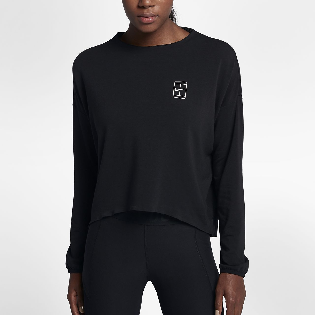 ... NikeCourt Dri-FIT Women's Long Sleeve Tennis Top