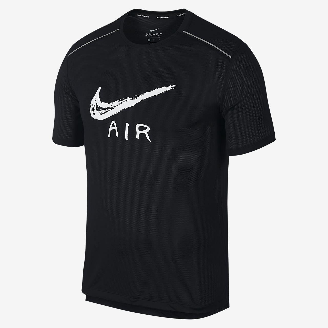 Nike Miler 男子短袖印花跑步上衣