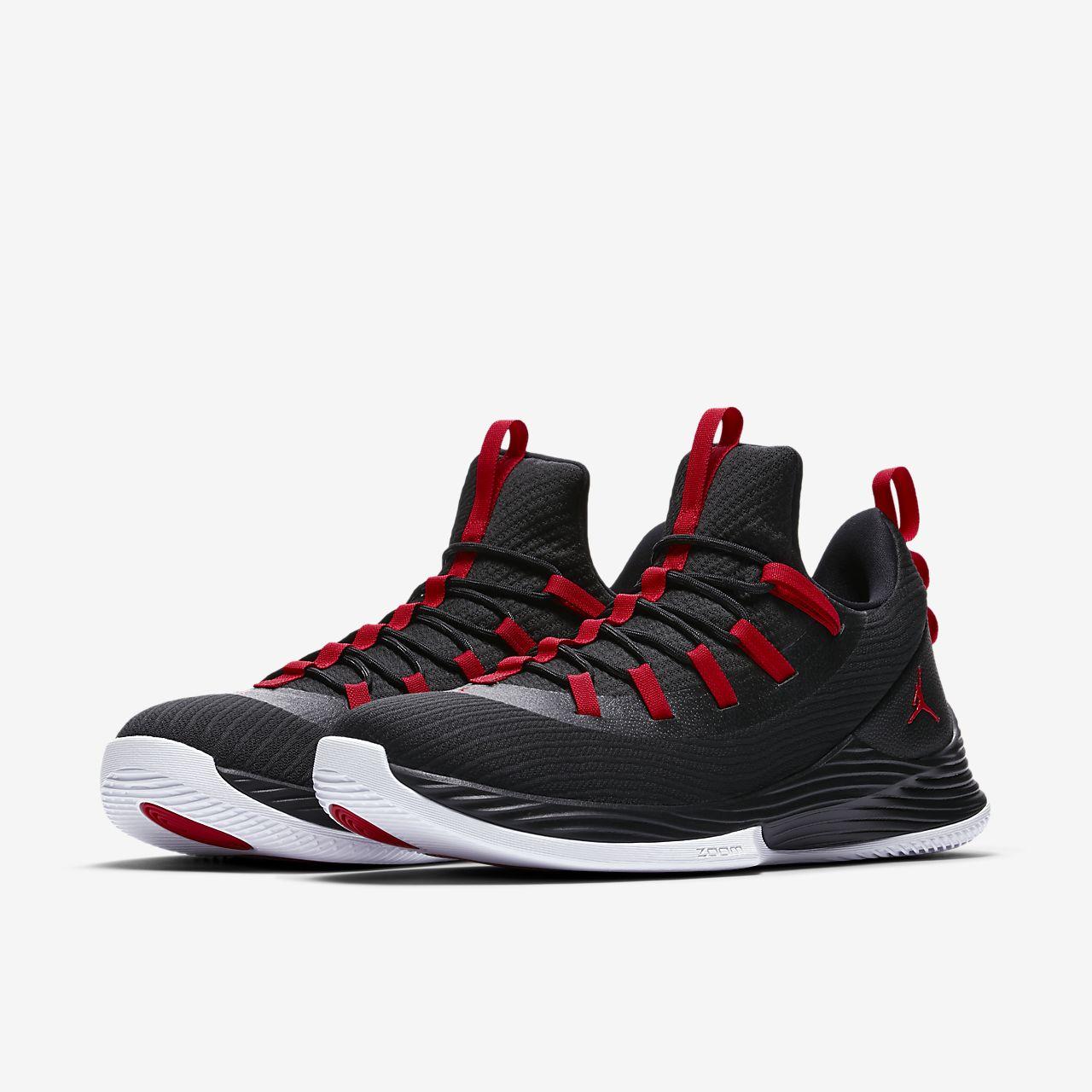 Jordan ULTRA FLY 2 LOW - Basketball shoes - black/white CBAsCAbn