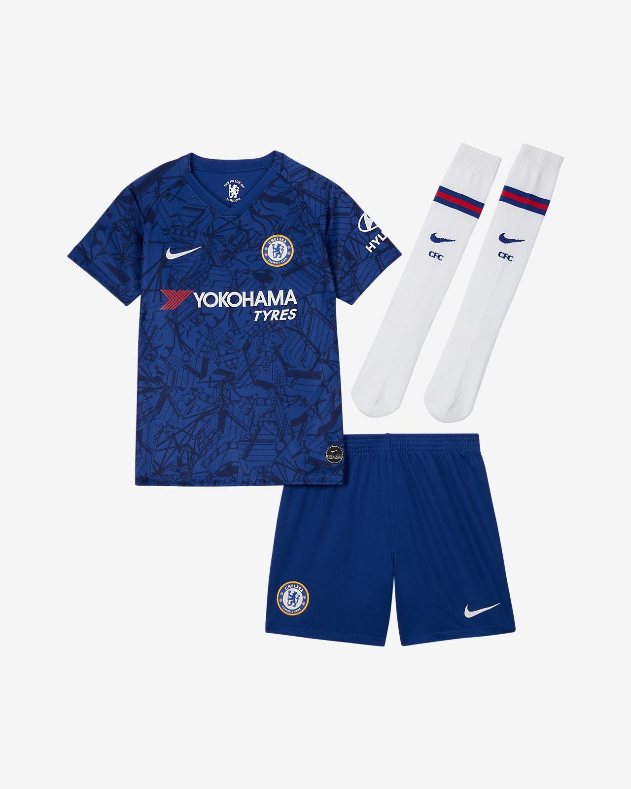 Chelsea FC 2019/20 Stadium Home Fußballtrikot-Set für jüngere Kinder