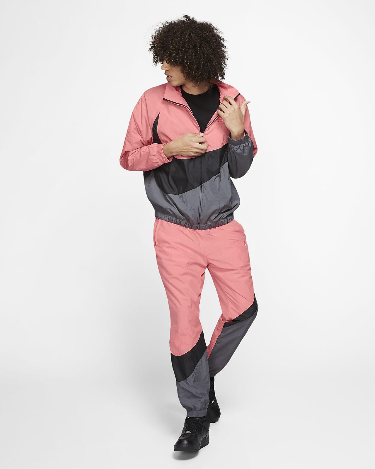 The Nike Sportswear Swoosh Woven Jacket in Pink GazeBlack