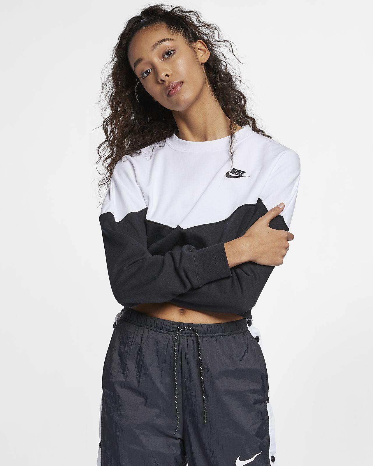 Nike Sportswear Heritage kerek nyakkivágású női polárpulóver