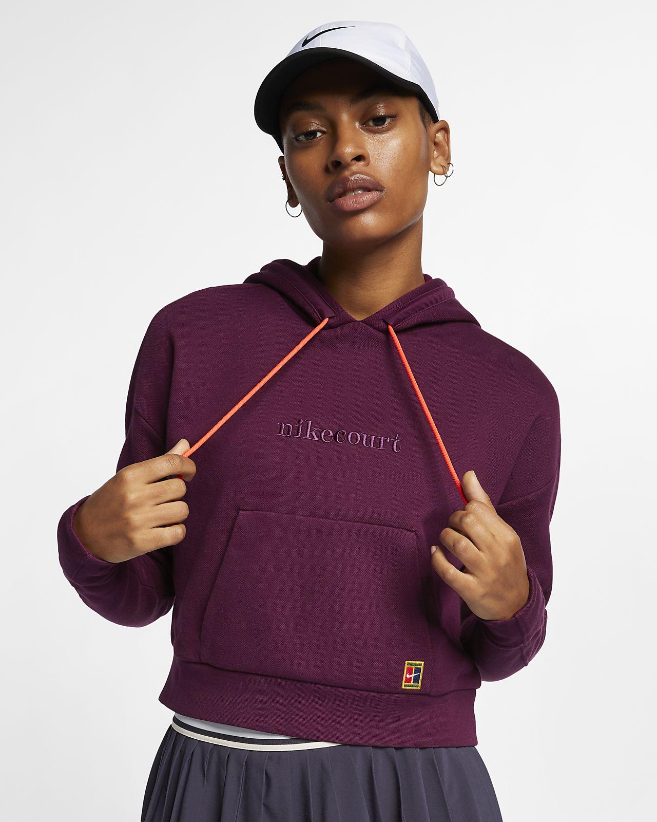 innovative design ca460 d2304 NikeCourt-pullover-hættetrøje til tennis til kvinder