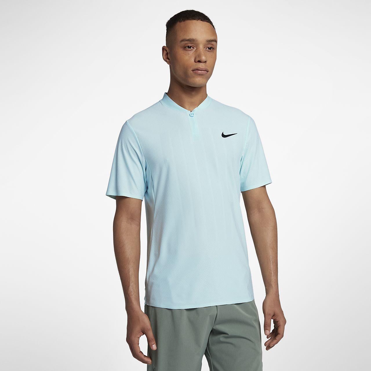 Nike Polo pour Homme, Homme, Argent Métallique, L