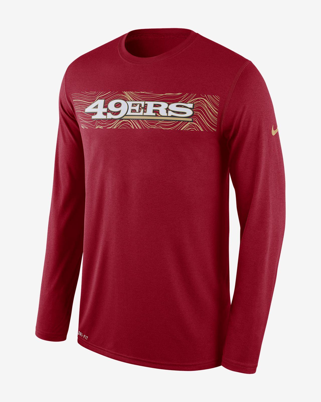 Nike Dri-FIT Legend Seismic (NFL 49ers) Men's Long Sleeve T-Shirt