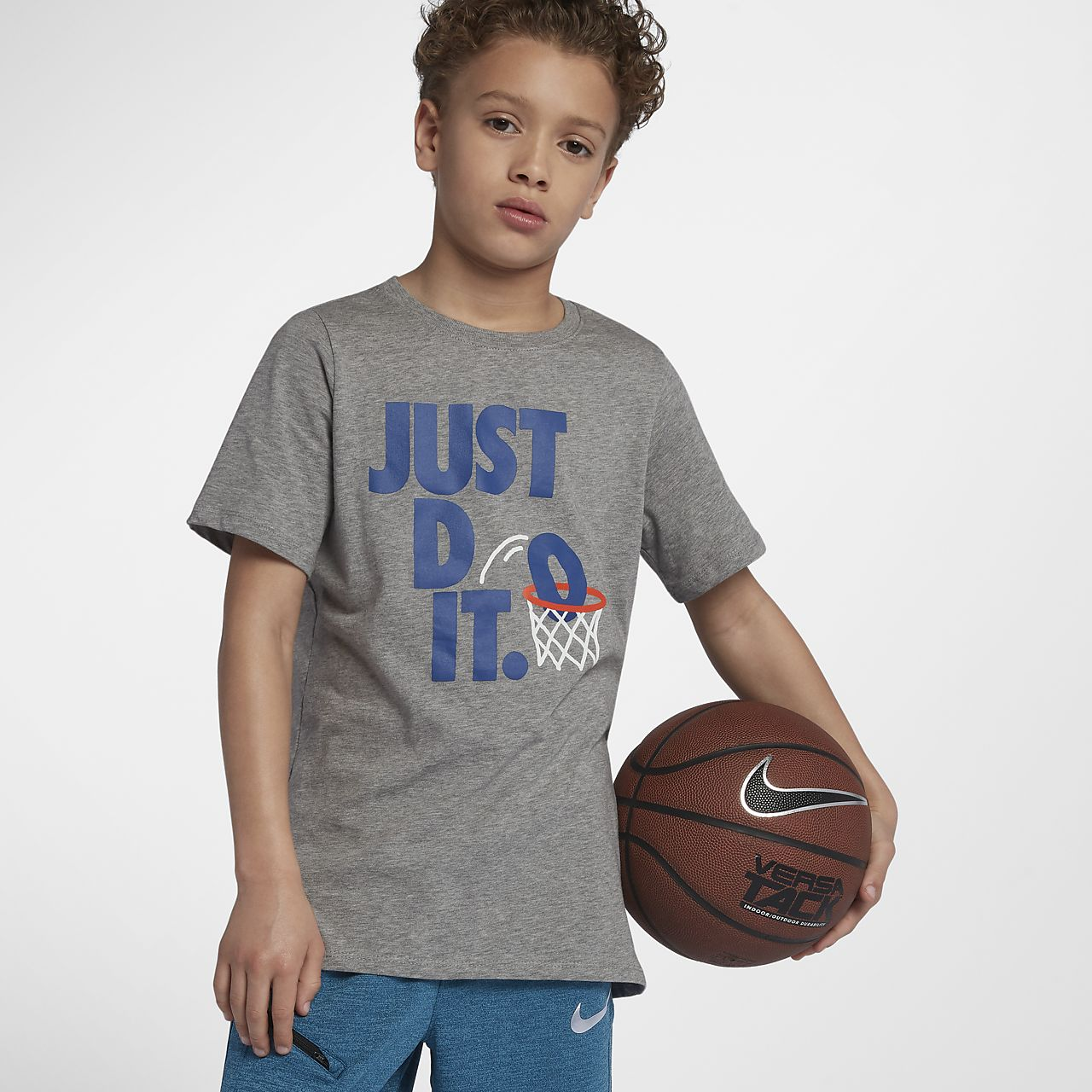 922876d12dd8 Nike Sportswear Just Do It Dunk Big Kids  (Boys ) T-Shirt. Nike.com