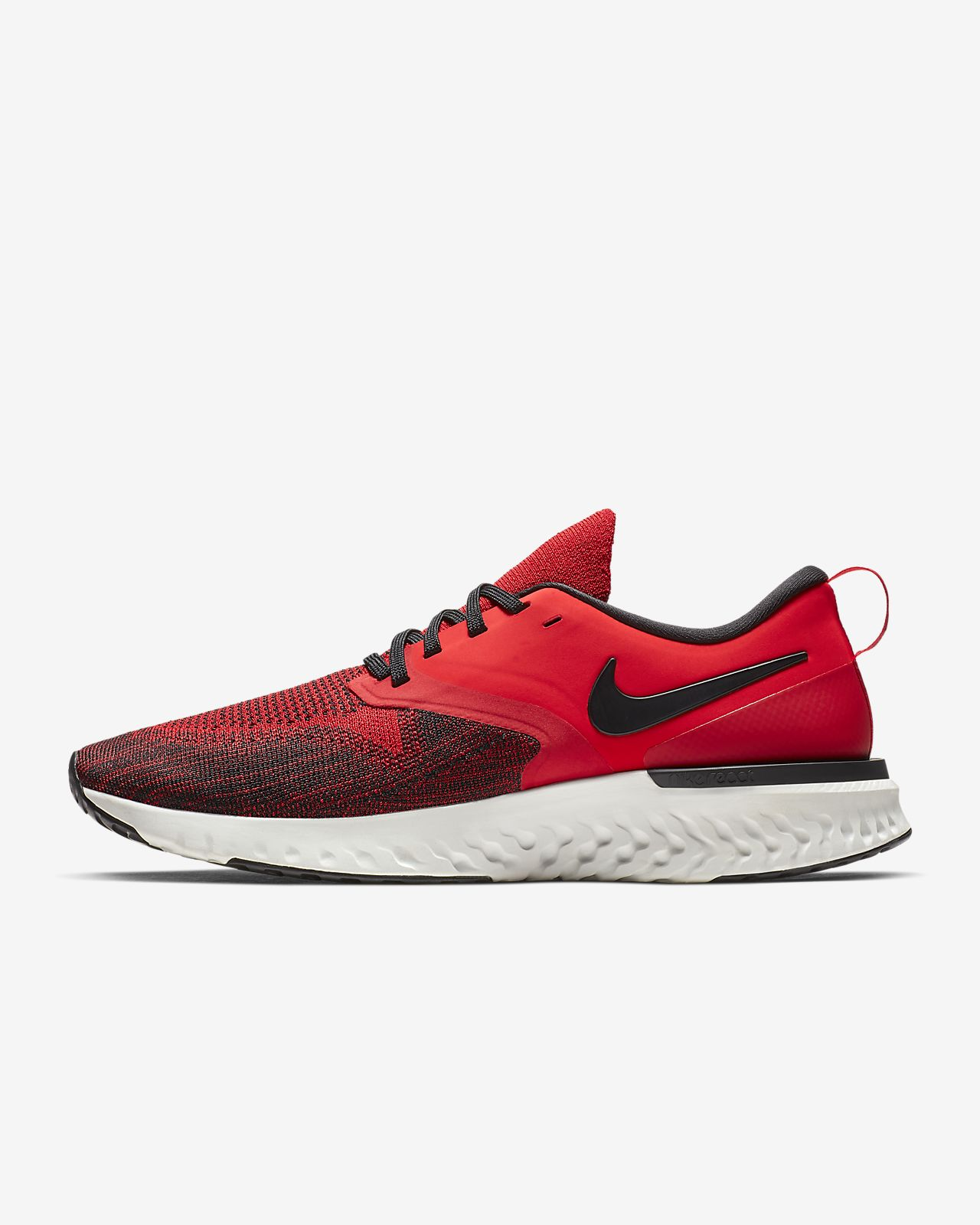 Nike Odyssey React Running Shoes Red White Black Sz 9