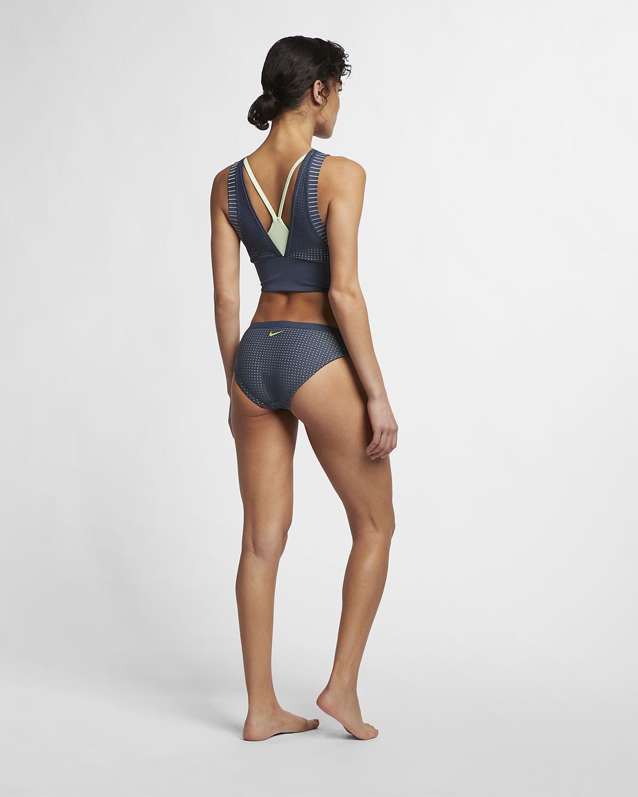 68d466c1d6ec7 Nike Sport Midkini Women s Layered Mesh Swim Top. Nike.com