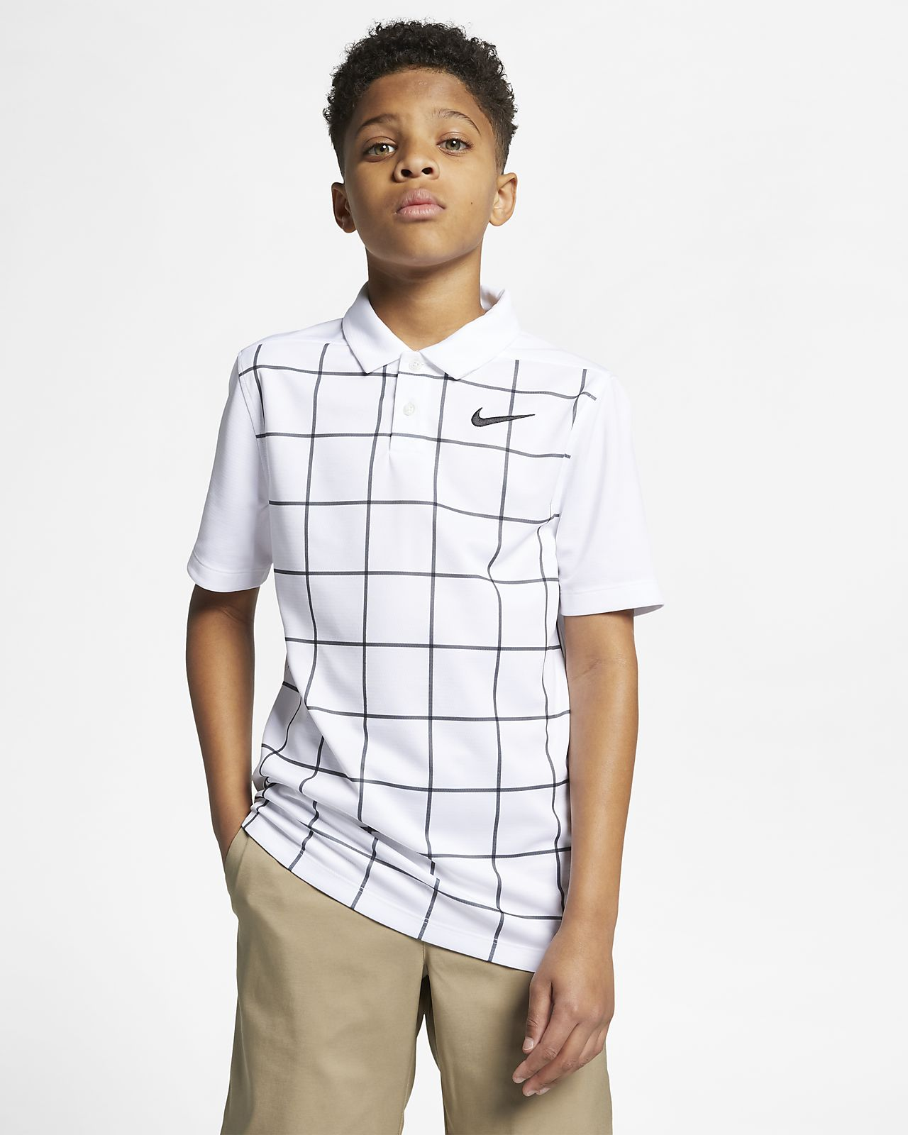 Nike Dri-FIT Golf-Polo mit Print für ältere Kinder (Jungen)